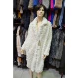 Пальто из эко меха, Barbara Alvisi, арт.,  OVER23 AFRO100/BIANCO