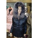 Куртка зимняя короткая с капюшоном, внутренний утеплитель верблюжья шерсть Par ten HY7812/BLU