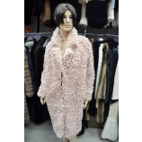 Итальянское пальто из эко меха, Barbara Alvisi, арт., OVER24 AFRO100/POLVERE
