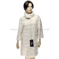П/пальто из меха белой норки Lina