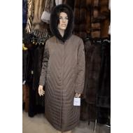 Зимнее пальто OSLS на верблюжьей шерсти с капюшоном арт., 9238/К638/OSLS