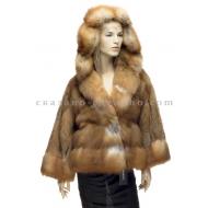 Куртка из меха рыжей лисицы Francesco Libonati 5F22