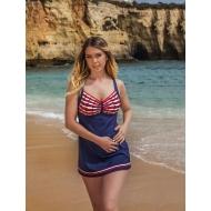 Сплошной купальный костюм-платье Bahama арт., 101-702:300901