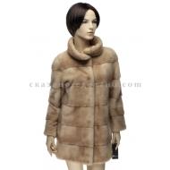 П/пальто из меха норки  R005
