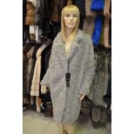 Итальянское пальто из эко меха, Barbara Alvisi, арт., OVER23 AFRO100/GRIGIO