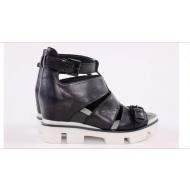 Итальянские сандали из натуральной кожи Marina Grey 0351 Nero
