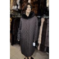 Осенне-зимнее пальто с капюшоном, внутренний утеплитель верблюжья шерсть, OSLS арт., 9238