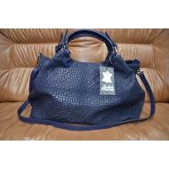 Итальянская кожанная сумка LEATHER COUNTRU арт., BLU-760
