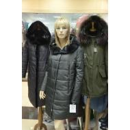 Зимнее полупальто с капюшоном, внутренний утеплитель верблюжья шерсть, OSLS арт., 8922-OL