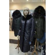 Зимнее пальто с капюшоном, внутренний утеплитель верблюжья шерсть, OSLS арт., 8940