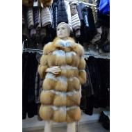 П/пальто из меха рыжей лисицы LIG12653