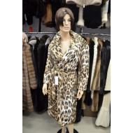 Пальто из эко меха, Barbara Alvisi, арт.,  OVER24 100/LEOPARDO