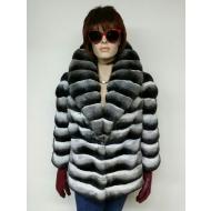 Куртка из меха шиншиллы шаль ворот А70-СТ