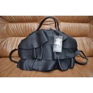 Итальянская кожанная сумка LEATHER COUNTRU арт., NERO-335