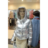 Осенне-зимняя  куртка с капюшоном, Glamur  ARGENTO