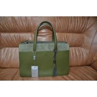 Итальянская кожанная сумка, отделана натуральной замшей MEIA DORO