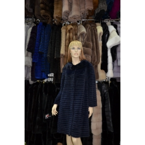 Пальто из меха норки Keruodi YS13-002-1
