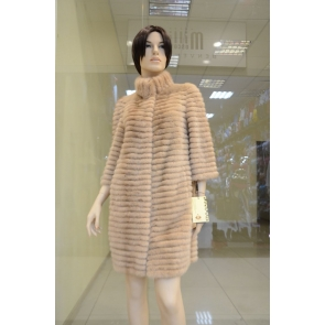 Полупальто из меха норки Monggier fur NO-8087