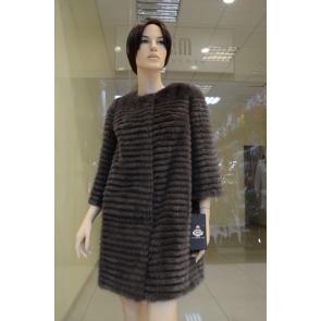 Полупальто из меха норки Monggier fur NO-1018