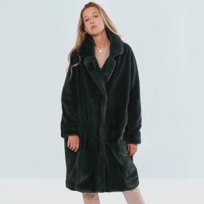 Пальто из эко меха,Barbara Alvisi, арт., OVER23 100/SMERALDO