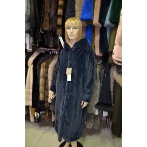 Итальянское пальто из эко меха,Barbara Alvisi, арт., 03AI19.110/BLU