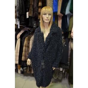 Итальянское пальто из эко меха, Barbara Alvisi, арт.,OVER23 AFRO100/BLU