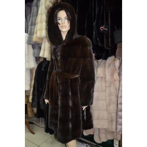 Пальто их меха норки Iris М4055