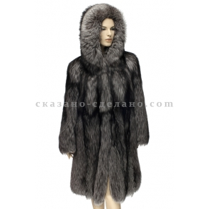 Пальто из меха чернобурки Akimoff  А100КАП