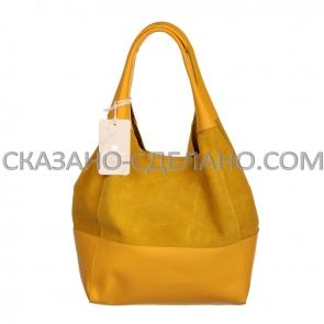 Итальянская сумка из натуральной замши Marina Gray 555