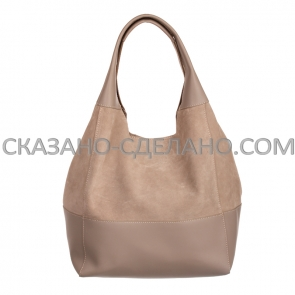 Итальянская сумка  из натуральной замши Marina Gray 556