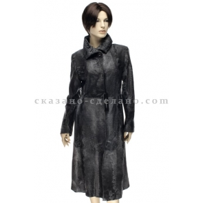 Пальто из меха каракульчи Francesco Libonati E-30