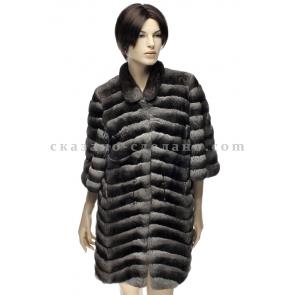 П/пальто из меха шиншиллы А090