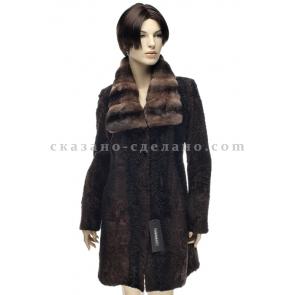 П/пальто из меха каракульчи Francesco Libonati 4Е202