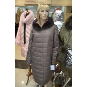 Осенне-зимнее пальто с капюшоном, внутренний утеплитель верблюжья шерсть, OSLS арт., 8915-3D