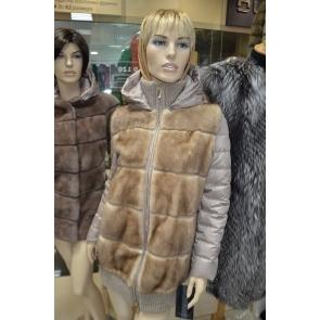 Итальянская куртка из  натурального меха норки Antonio Didone арт., 104282