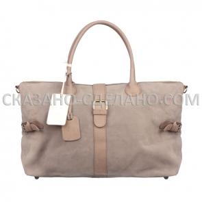 Итальянская сумка из натуральной замши Marina Gray 4800