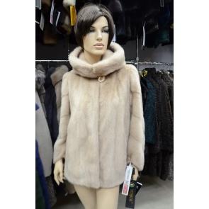 Норковая куртка с капюшоном VENICE арт., Z2032-dl718