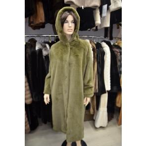 Итальянское пальто из эко меха,Barbara Alvisi, арт., 03AI19.110/OLIVA